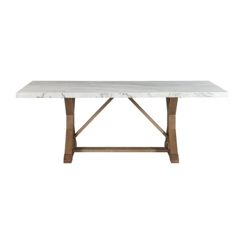 Liam Standard Height Rectangular Dining Table White Marble Picket House Furnishings Target
