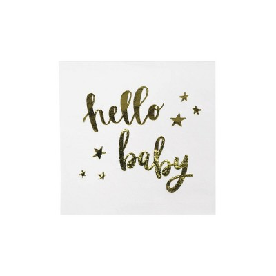 "30ct ""Hello Baby"" Beverage Napkins - Spritz™"