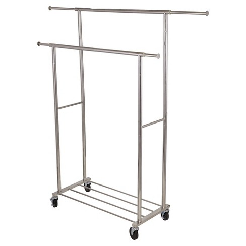 Household Essentials® Double Garment Rack - Silver - image 1 of 3