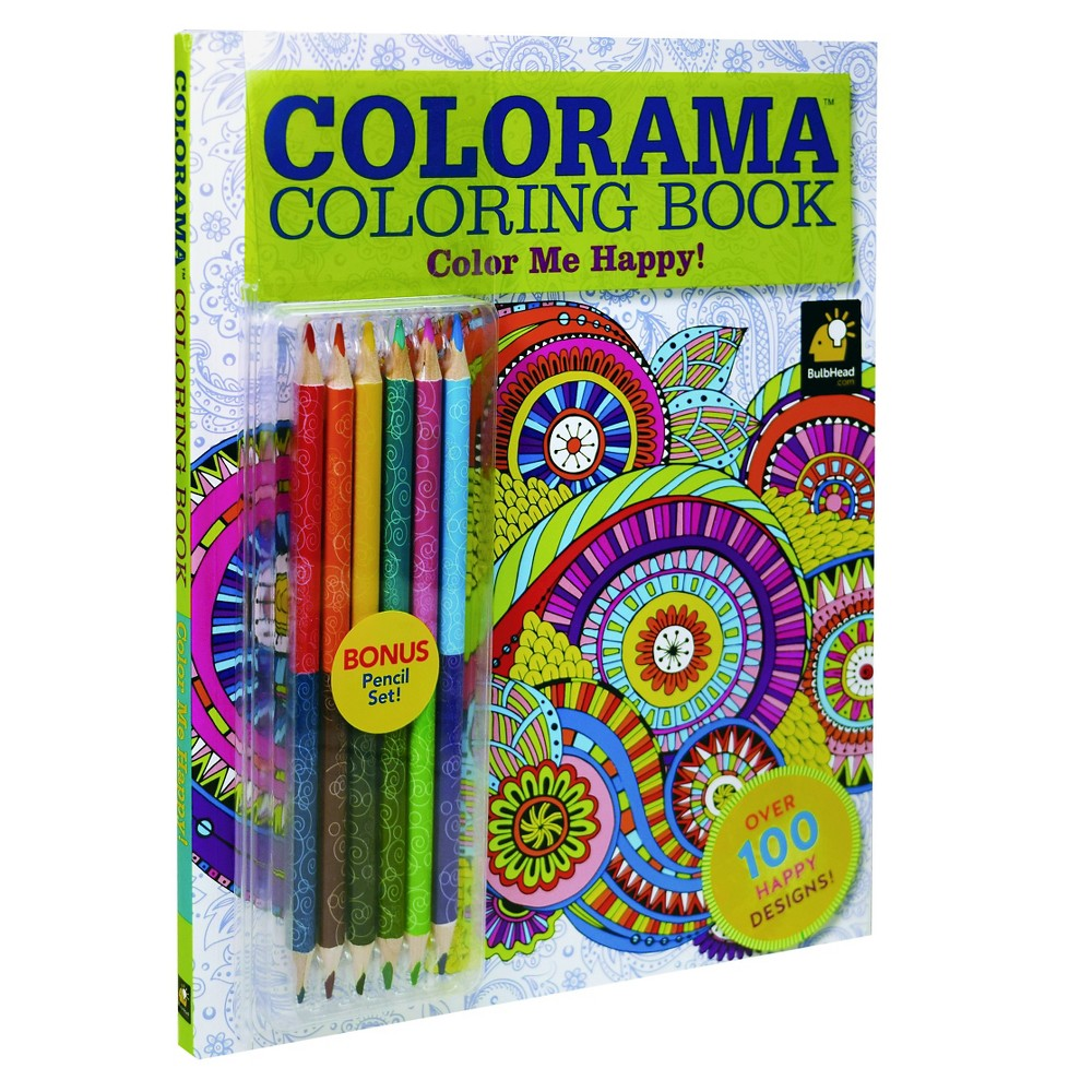 As Seen on TV Colorama 7 Piece Color Me Happy Adult Coloring Book, Multi-Colored