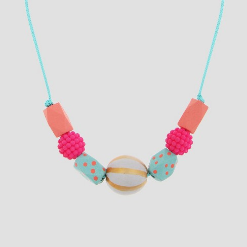 Girls' Wooden Beads Necklace - Cat & Jack™ - image 1 of 2