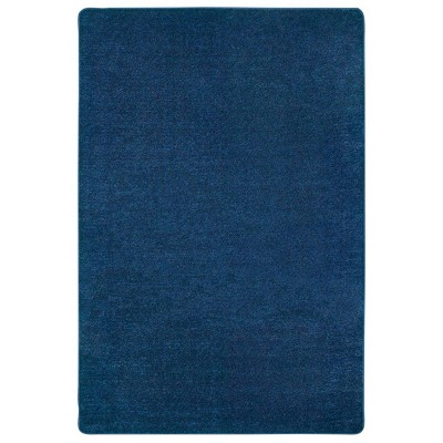 4'x6' Rectangle Woven Solid Area Rug Blue - Carpets For Kids
