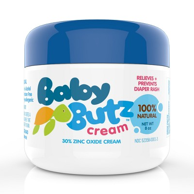 Baby Butz 100% Natural Diaper Rash Cream - 8oz