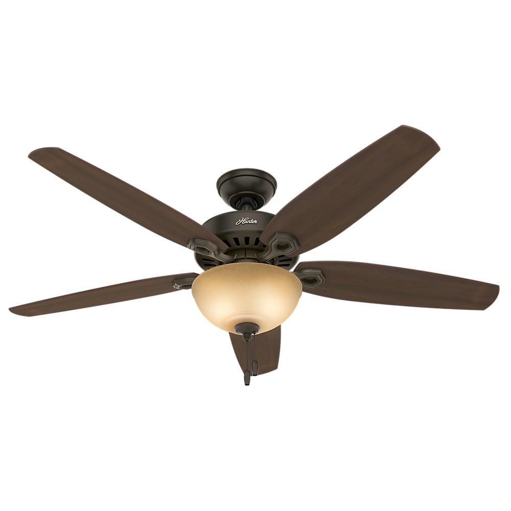 56 Builder Great Room Lighted Ceiling Fan Bronze - Hunter Fan