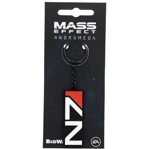 Nerd Block Mass Effect N7 Black Rubber Keychain Target