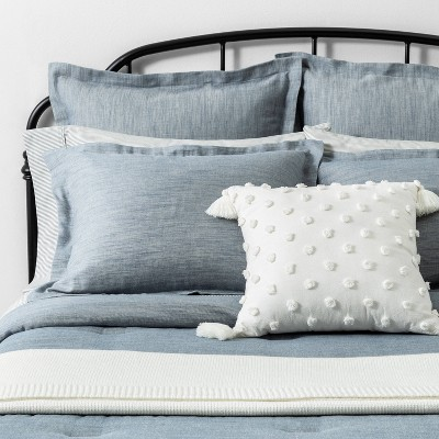 Blue Twill Comforter Set Bedding Collection - Hearth & Hand™ with Magnolia