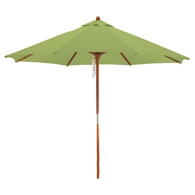 9' Wood Market Umbrella - Lime Green - Astella