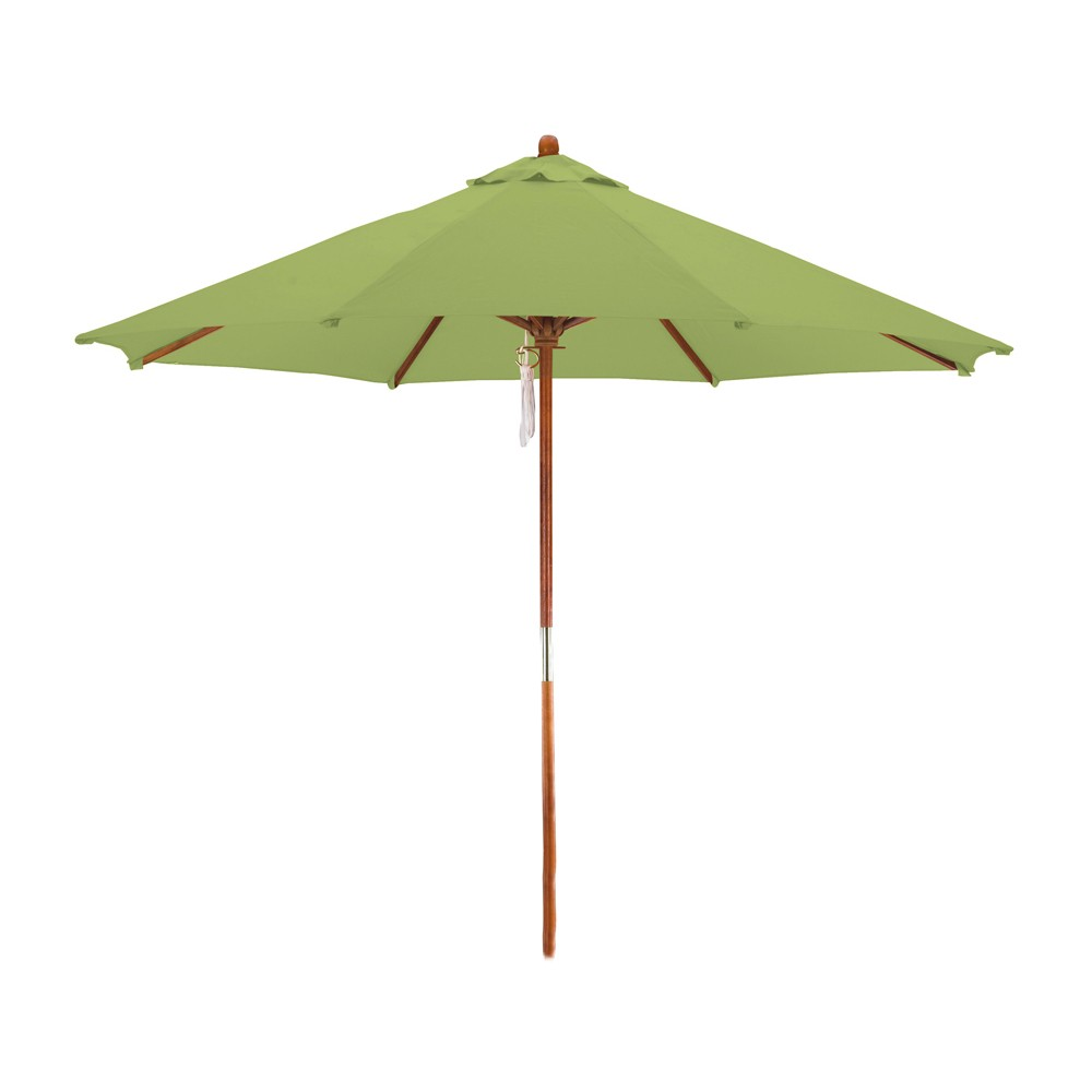 Image of 9' Wood Market Umbrella - Lime Green - Astella, Tropical Lime