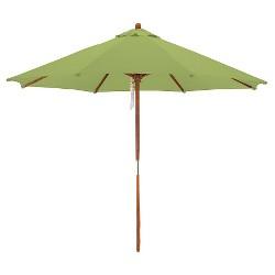 9' Wood Market Umbrella - Lime Green - Astella