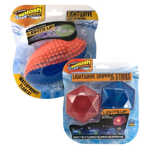 Splash Bombs® Lightwave Light-Up Football/ Skipping Stones (Assorted Styles) - image 1 of 3