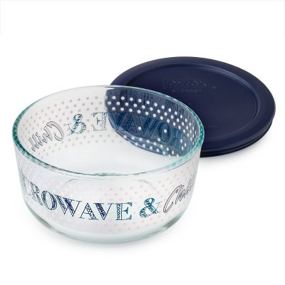 Pyrex 4 cup Food Storage Container Navy