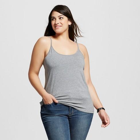 fd1e7831c34 Women s Plus Size Cami - Ava   Viv™ - Medium Heather Gray 4X   Target