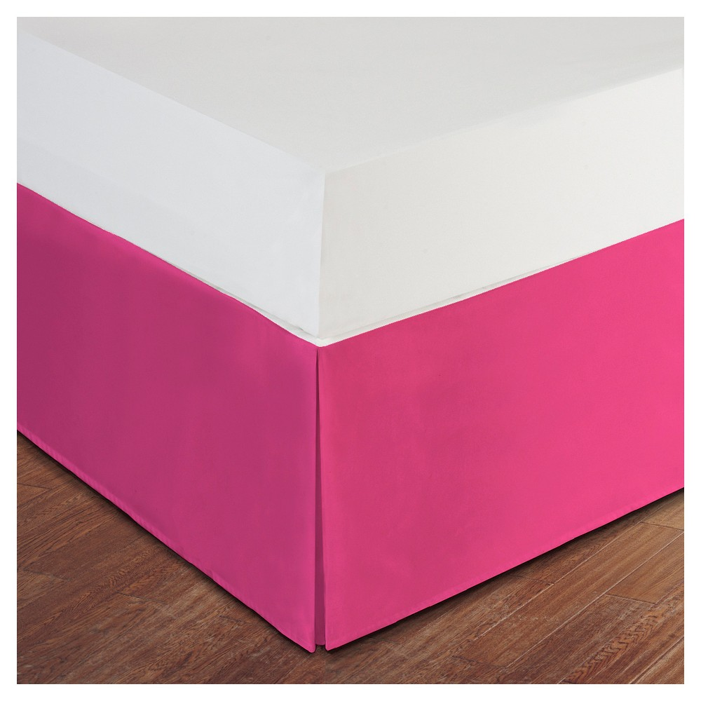 Image of Pink Tailored Microfiber 14 Bed Skirt (Queen)