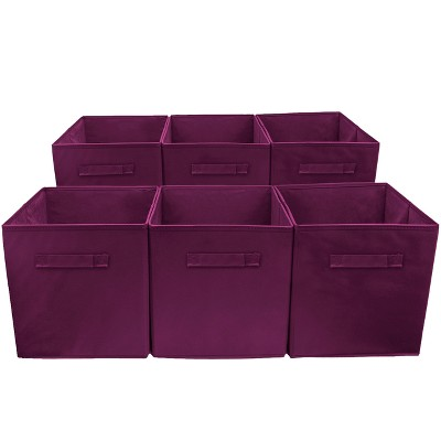 Sorbus Cube Storage Box Purple