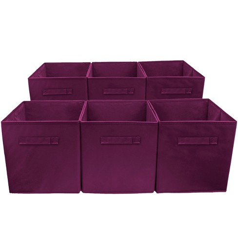 Sorbus Cube Storage Box Purple - image 1 of 4