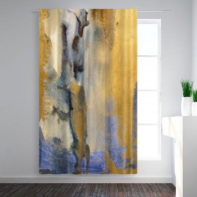 Americanflat Gold Dust II by Hope Bainbridge Blackout Rod Pocket Single Curtain Panel 50x84