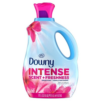 Downy Intense Scent + Freshness Spring Rush Scent-Boosting Liquid Fabric Softener - 64 fl oz