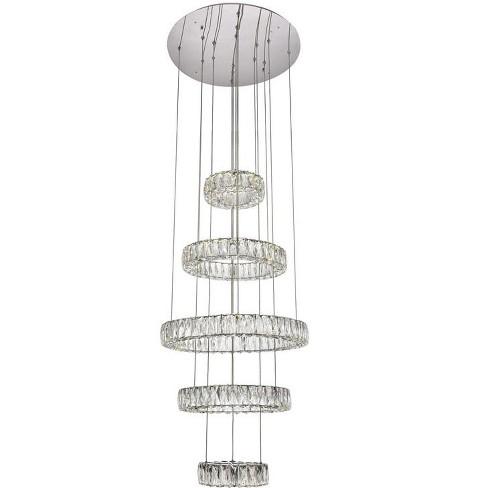 """Elegant Lighting 3503G5L Monroe 25-5/8"""" Wide Integrated LED Crystal Chandelier - image 1 of 1"""