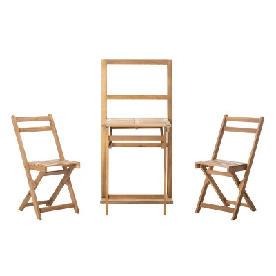 Griffen 3pc Balcony Dining Cabinet Set - Natural - Safavieh