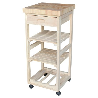 Ashley Kitchen Trolley - Unfinished - International Concepts