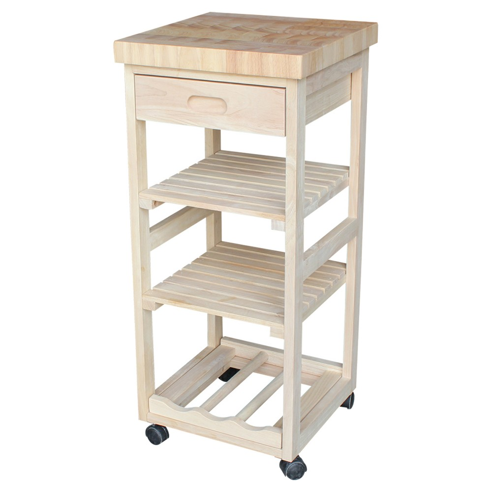 Ashley Kitchen Trolley - Unfinished - International Concepts, Wood