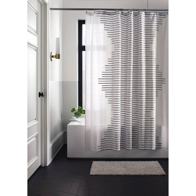 Fringe Stripe Shower Curtain White - Project 62™