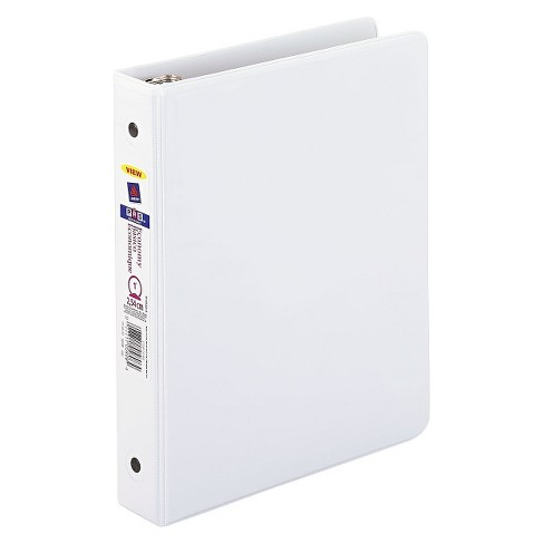 avery economy view binder with round rings 8 1 2 x 5 1 2 1 cap