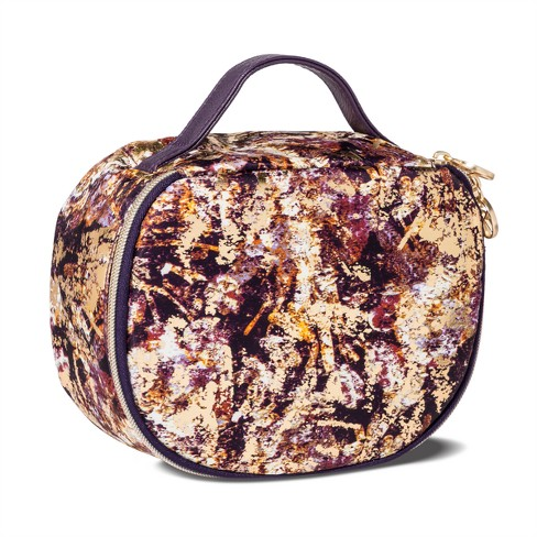 Sonia Kashuk™ Cosmetic Bag Saddle Bag Distress Floral with Foil - image 1 of 2
