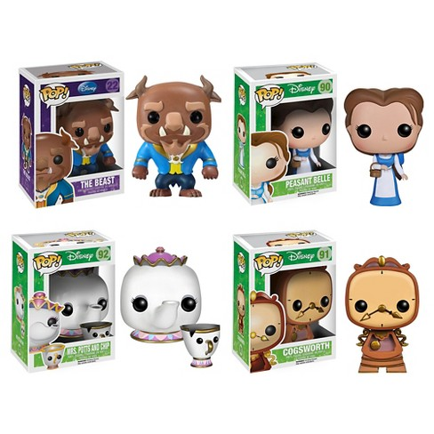 Funko Beauty And The Beast Movie POP! Disney Vinyl Collectors Set: The Beast, Peasant Belle, Mrs. Potts With Chip, Cogsworth : Target