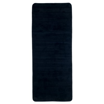 Extra Long Memory Foam Striped Bath Mat - Yorkshire Home