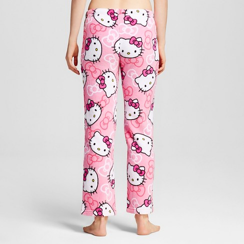 Women s Hello Kitty Plush Pajama Pants - Pink S   Target 8da375c01d
