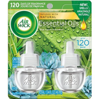 Air Wick Essential Oils Blue Agave and Bamboo Twin Refill - 1.34 fl oz