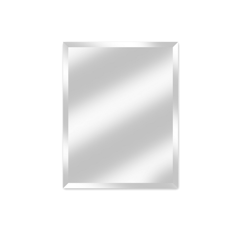 """Image of """"28"""""""" X 34"""""""" Madison Frameless Decorative Beveled Glass Wall Mirror - Alpine Art and Mirror, Silver"""""""