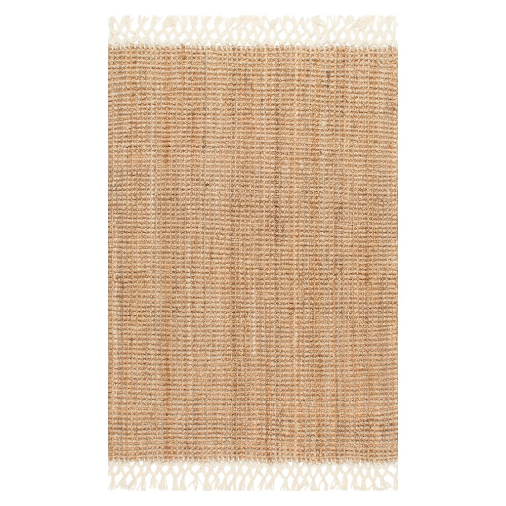 White Solid Woven Runner - (2'6x8') - nuLOOM