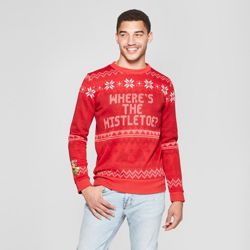 Mens Ugly Christmas Wheres The Mistletoe Sweatshirt Red Target