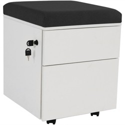 Rolling 2-Drawer Wheeled Storage Cabinet - Black - CASL Brands