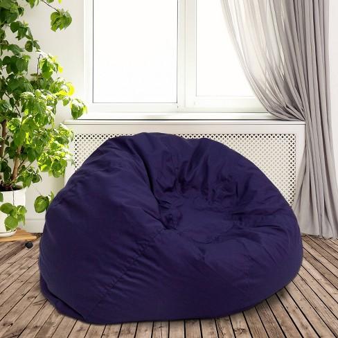 Marvelous Oversized Bean Bag Chair Navy Blue Flash Furniture Pdpeps Interior Chair Design Pdpepsorg