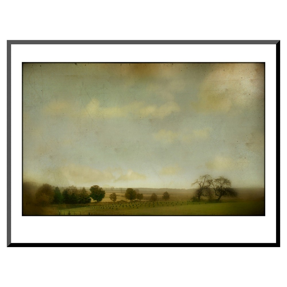 Art.com Field of Crops and Trees Wall Panels, Brown