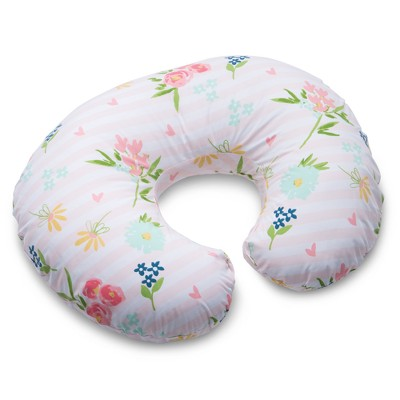 Boppy Floral Stripe Nursing Pillow and Positioner - Pink