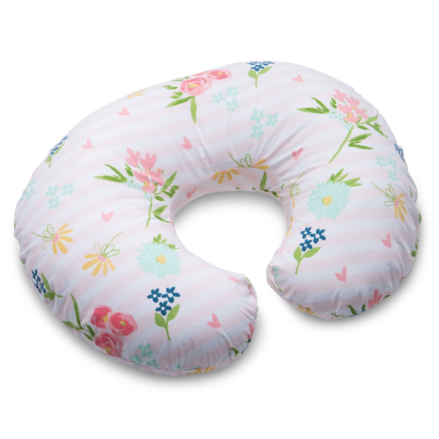 Boppy Floral Stripe Nursing Pillow and Positioner - Pink - image 1 of 15