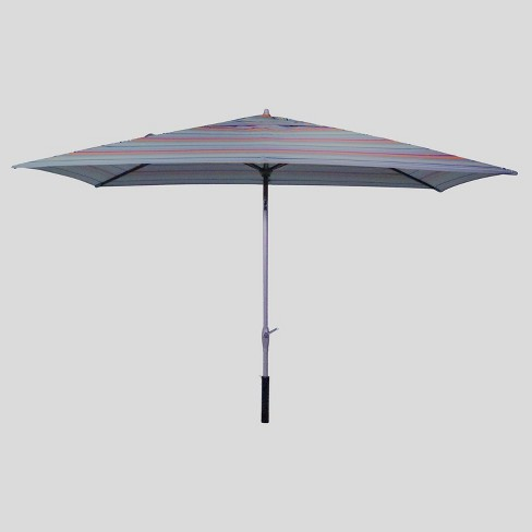 6.5' x 10' Rectangular Avenue Stripe Patio Umbrella - Ash Pole - Project 62™ - image 1 of 3