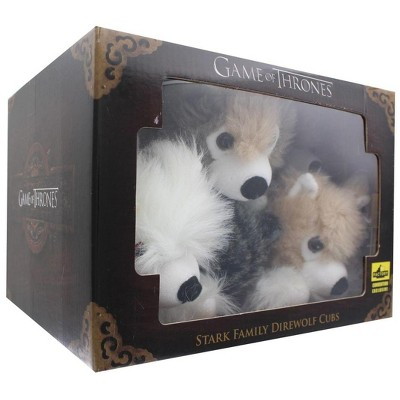 Factory Entertainment Game of Thrones Exclusive 6-Inch Plush Direwolf Prone Cub 6-Pack