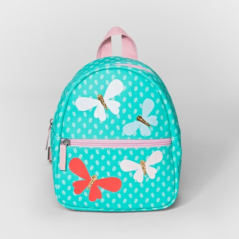 Toddler Girls' Butterfly Backpack Handbag - Cat & Jack™ Turquoise - image 1 of 2