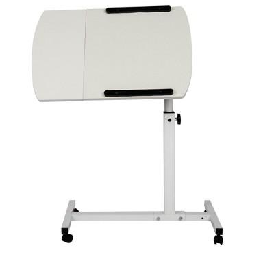 Mind Reader Adjustable Tilting Desk with Wheels,  White