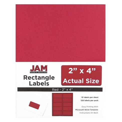 jam paper mailing labels 2 x 4 120ct red target