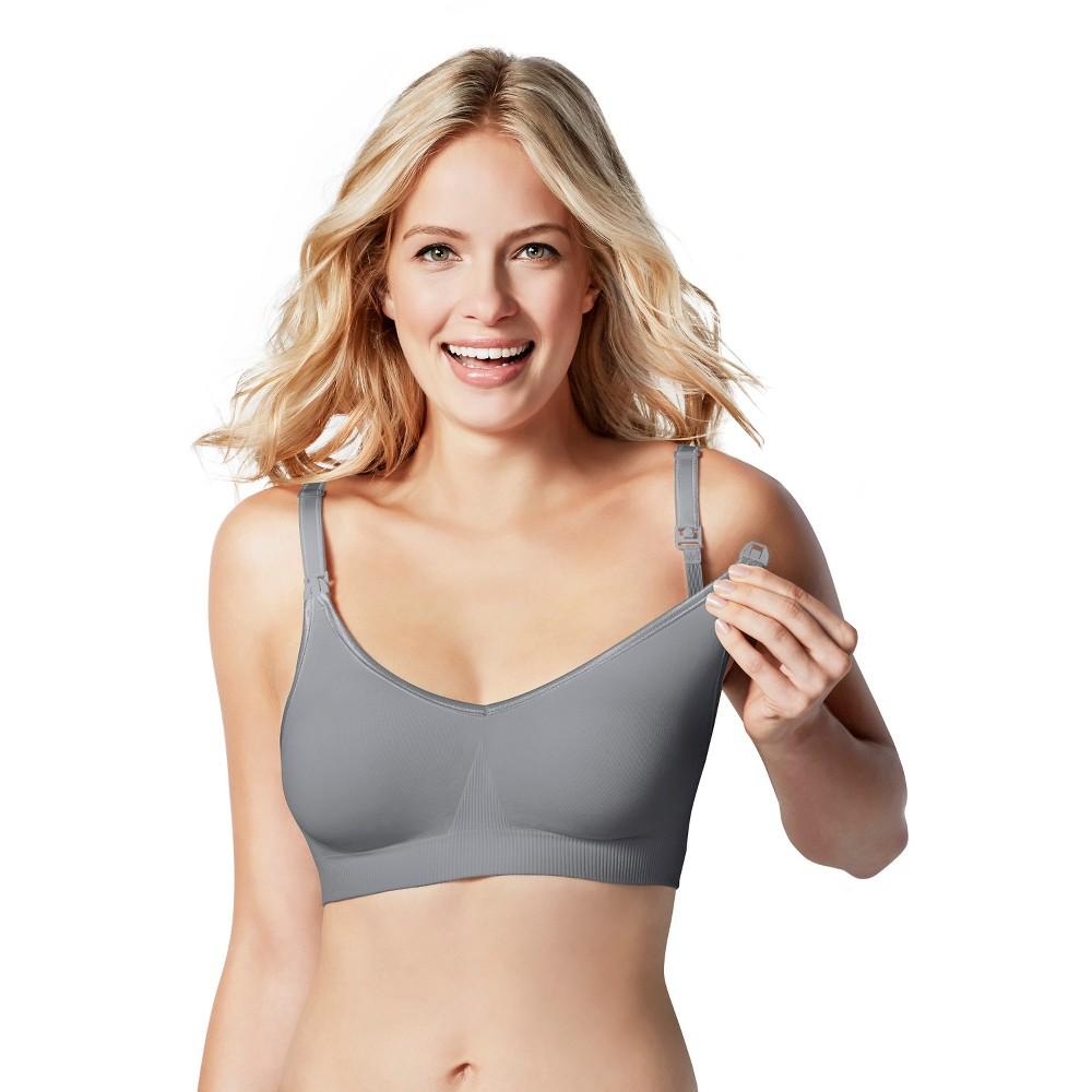Bravado! Designs Women's Body Silk Seamless Nursing Bra - Silver Belle M