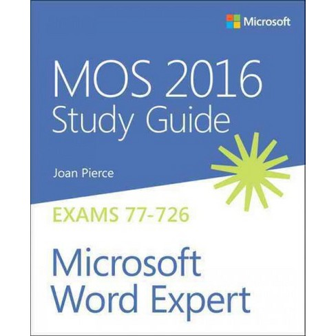 mos 2016 for microsoft word expert microsoft office specialist
