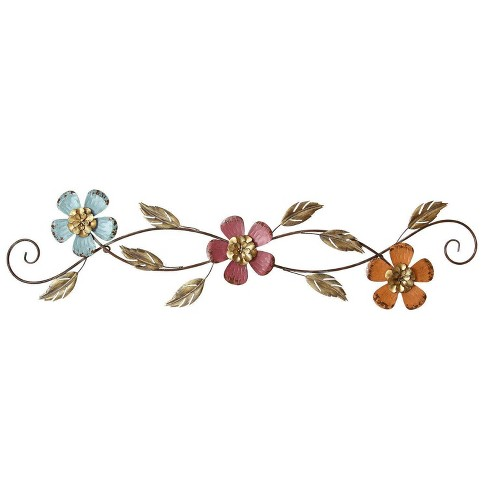 "40"" x 10"" Floral Scroll Wall Dcor - Stratton Home Dcor - image 1 of 4"