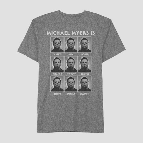 Men's Michael Myers Short Sleeve T-Shirt - Rich Charcoal - image 1 of 1