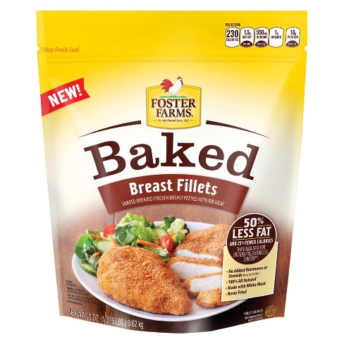 Foster Farms Frozen Baked Chicken Fillets - 22oz - image 1 of 1